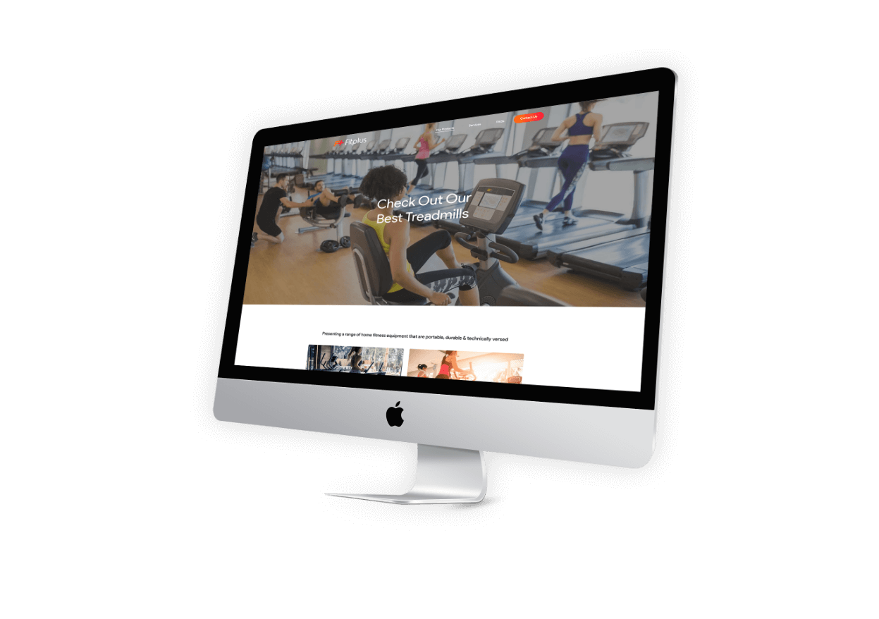 Fitplus Web Screens